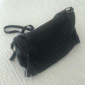 Forever 21 Black Leather Medium Sized Purse